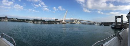 Bateaux Taïwan de jetée du quai du pêcheur de Tamsui photographie stock