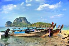 Bateaux thaïlandais Image libre de droits