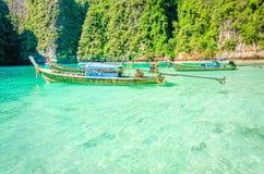 Bateaux thaïlandais traditionnels, Thaïlande Image libre de droits