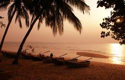 Bateaux thaïs traditionnels Photographie stock
