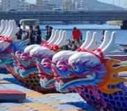 Bateaux traditionnels de dragon dans Taiwan Photos stock