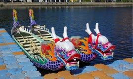 Bateaux traditionnels de dragon dans Taiwan Photographie stock