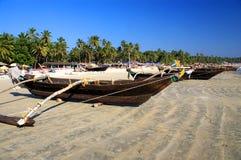 Bateaux traditionnels de Goa Images libres de droits