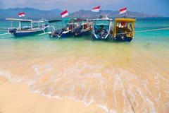 Bateaux tropicaux de plage Photographie stock libre de droits
