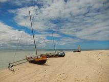 Bateaux typiques au Madagascar Image libre de droits