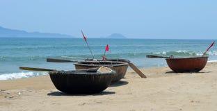 Bateaux vietnamiens de panier photo libre de droits