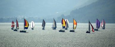 bateaux à voiles Photographie stock