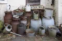 Batedeiras de leite velhas Imagem de Stock
