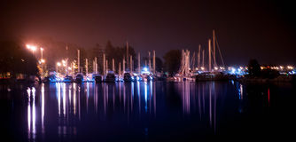 Bateman's Bay Marina at Night Royalty Free Stock Photos