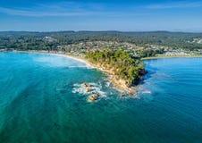 Batemans海湾澳大利亚鸟瞰图  免版税库存图片