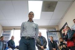 Batente da campanha de Josh Romney na excursão do barramento foto de stock royalty free