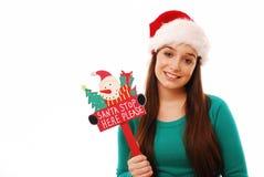 Batente de Santa aqui! Foto de Stock Royalty Free
