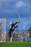 Batente do Goalie do Lacrosse Fotografia de Stock Royalty Free