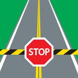 BATENTE do sinal da barreira e de tráfego Fotografia de Stock