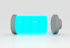 Batería azul llena Fotos de archivo libres de regalías