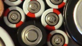 Batería, baterías, electricidad, energía almacen de video