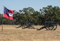 Batería confederada del cañón Foto de archivo libre de regalías