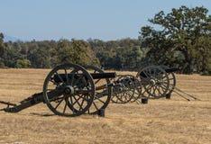 Batería confederada del cañón Imágenes de archivo libres de regalías