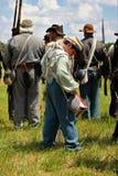 Batería confederado Boy fotografía de archivo