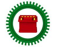 Batería de coche roja Foto de archivo libre de regalías