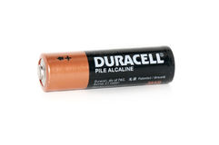 Batería de Duracell Imagen de archivo libre de regalías