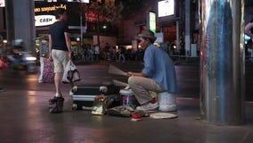 Batería de la calle en Bangkok almacen de video