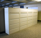 Batería de las cabinas de fichero de la oficina Imágenes de archivo libres de regalías