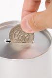 Batería de moneda imagen de archivo