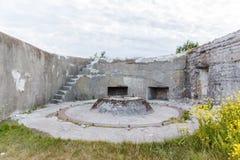 Batería de morteros en el fuerte Schanz Foto de archivo libre de regalías