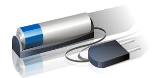 Batería de Rechargable Imágenes de archivo libres de regalías