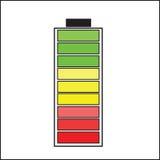 Batería del color stock de ilustración