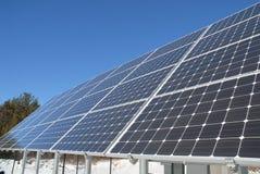 Batería del panel solar Imágenes de archivo libres de regalías