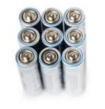 Batería eléctrica AA Fotos de archivo libres de regalías