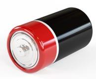 Batería en un fondo blanco se aísla, Imágenes de archivo libres de regalías