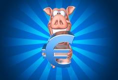 Batería guarra con euro libre illustration