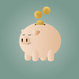 Batería guarra con las monedas Stock de ilustración