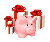 Batería guarra y regalos Foto de archivo libre de regalías