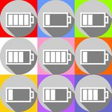Batería-iconos Imagen de archivo