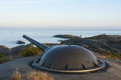 Batería Landsort Suecia de la artillería costera Imagen de archivo libre de regalías