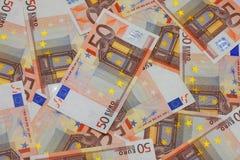 Batería-papeles euro Imágenes de archivo libres de regalías