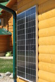 Batería solar en la pared Fotografía de archivo