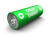 Batería verde Fotografía de archivo