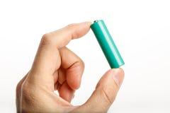 Batería verde imagen de archivo libre de regalías