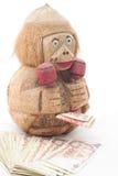 Batería y billetes de banco del dinero Fotos de archivo libres de regalías