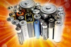Baterías Imagen de archivo libre de regalías