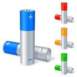 Baterías. ilustración del vector