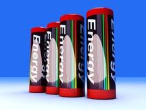 Baterías stock de ilustración