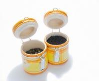 Baterías de cerámica para el té Foto de archivo libre de regalías