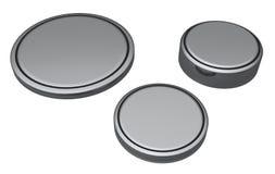 Baterías de la célula de la moneda o del botón Imágenes de archivo libres de regalías
