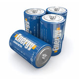 Baterías de la energía Fotos de archivo libres de regalías
